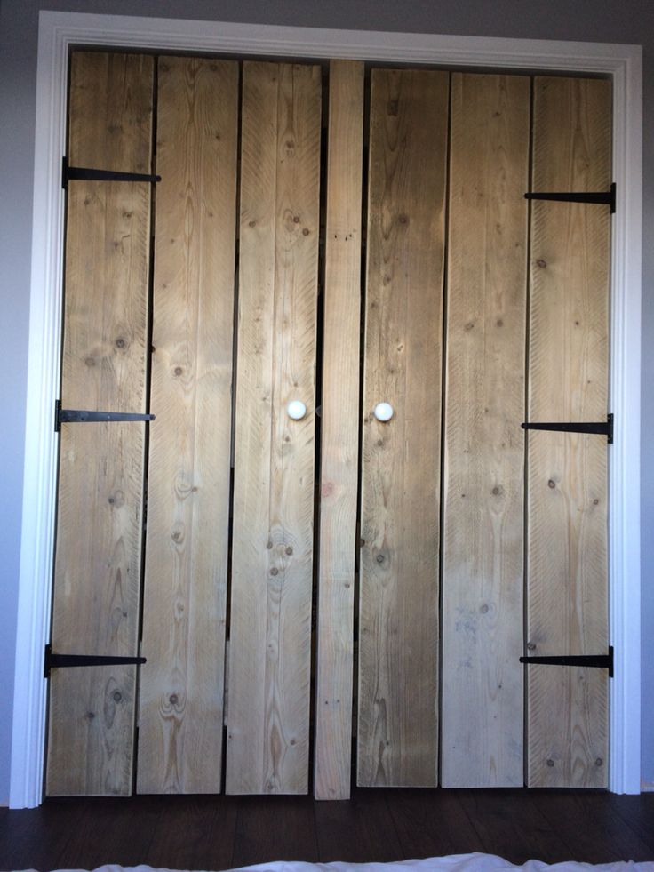 Reclaim scaffold boards used for wardrobe doors