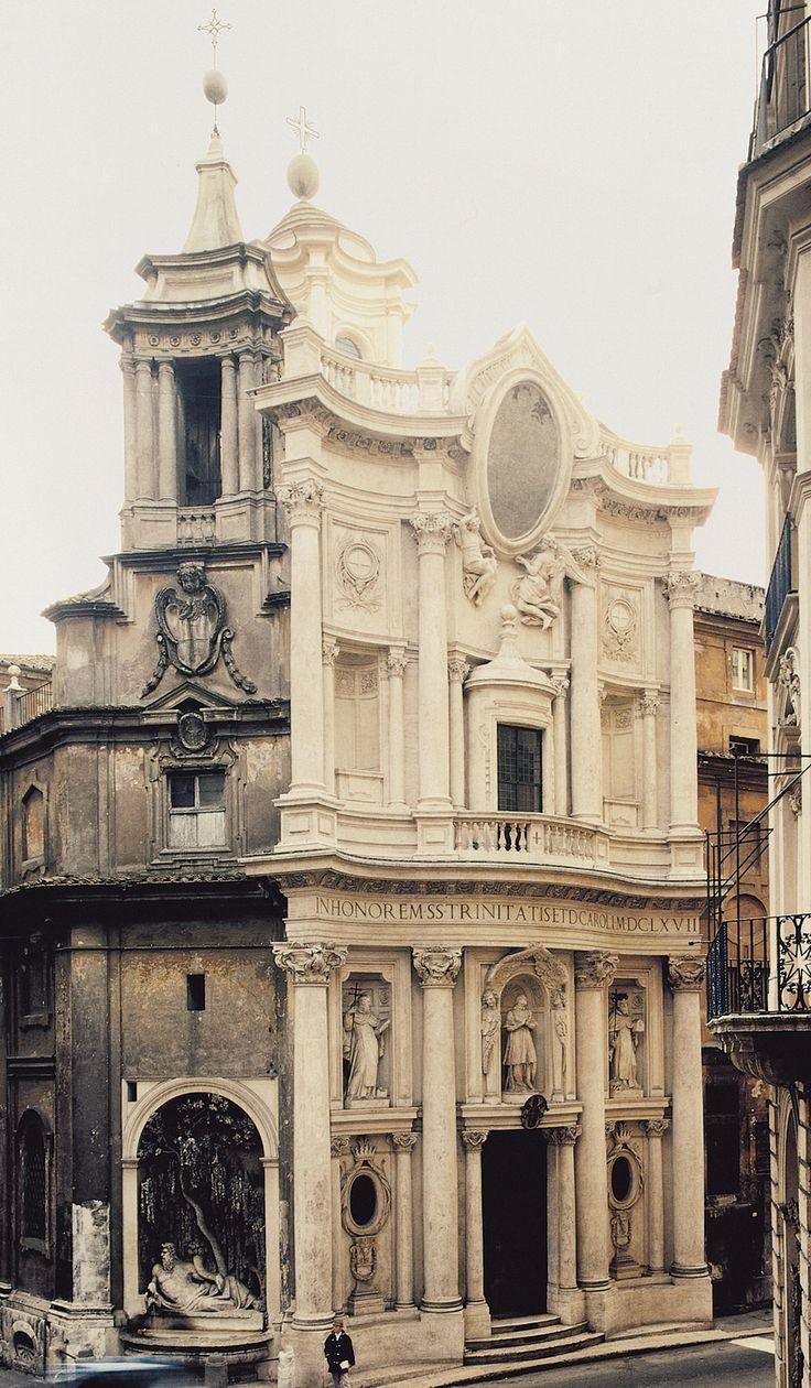 Francesco borromini san carlo alle quattro fontane for Baroque italien