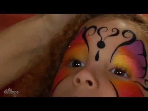 Facile trucco da farfalla per bambina - VideoTrucco
