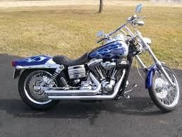 Image result for 2006 blue Harley Dyna Wide Glide