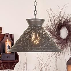 punched tin lights (minus the wreath and cheesy craft decor)