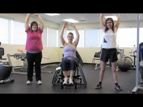 This video is exercises for people with disabilities. They are special exercises designed for intellectually disabled adults and people with limited mobility.