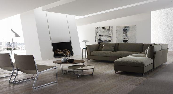 Divano angolare imbottito BAHIA by ALIVAR | design Giuseppe Bavuso