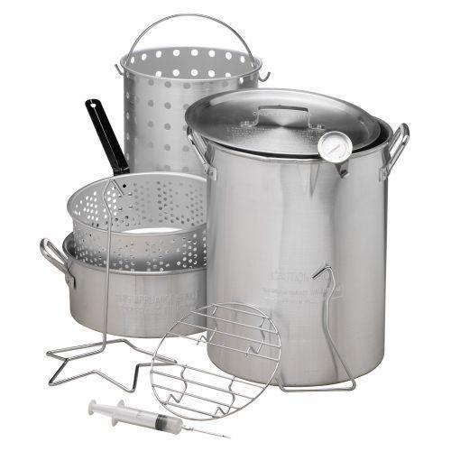 Outdoor Deep Fryer Pot Kit Propane Stockpot Gas Strainer Fish Basket Turkey New #OutdoorGourmet