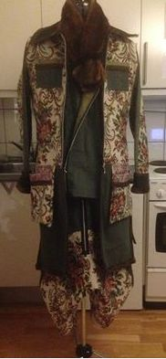 The Rawmene jeanscollection autmn 2014. Furniture textiles mixed with denim.