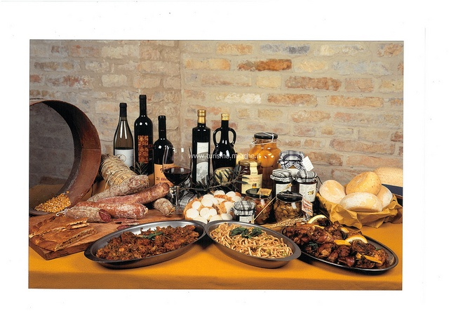 A tipical products and dishes of Offida - Marche, Italy