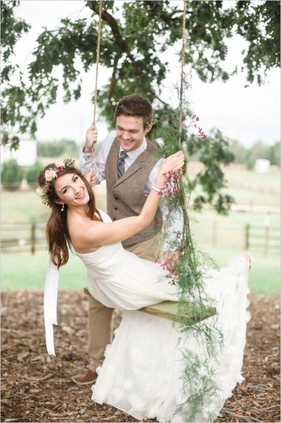 etheral wedding gown by ruche #brideandgroom #weddingphotography #weddingchicks http://www.weddingchicks.com/2014/01/20/boho-garden-wedding/