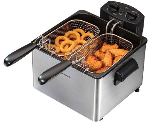 JAY?  Hamilton Beach Professional-Style Electric Deep Fryer, 12-Cup Oil Capacity (35034)