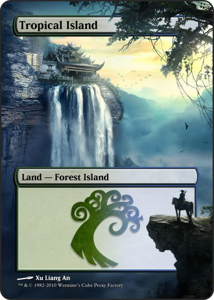 Magic The Gathering Tropical Island Proxy