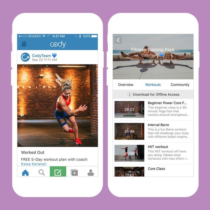 Indoor exercise apps