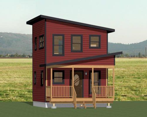 Tiny House Floor Plans Small Cabins Tiny Houses Small: 16x16 Tiny House -- #16X16H2 -- 433 Sq Ft