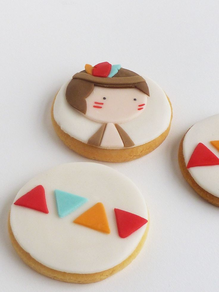 Peaceofcake ♥ Sweet Design: Pow-wow Cake and Cookies ▲ Bolo e Bolachas Pow-wow