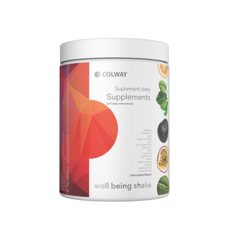 Well Being Shake The Well Being Shake is a healthy, nutritious drink that contains many valuable ingredients. You can make it quickly and easily wherever you are – at work, at school, in the gym, or on the road. the Well Being Shake completes your diet with components that are often lacking for various reasons. - Colway International
