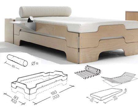 Stapelliege è il famoso letto modulare disegnato da Rolf Heide nel 1966. E' composto da una struttura letto in legno, che grazie al suo disegno permette l'incastro in altezza di una o più strutture letto. Un ottima idea salvaspazio, e per avere sempre pronto il letto degli ospiti. Su NOmadeDESIGN. http://www.nomadedesign.com/index.php/prodotti/letti/62-stapelliege-legno