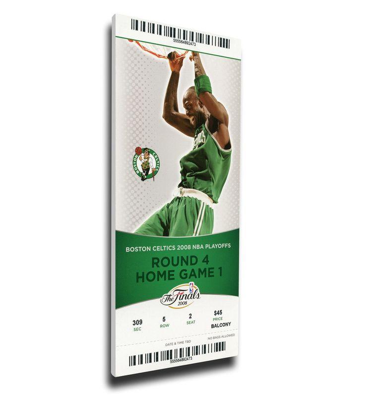 Boston Celtics Wall Art - 2008 NBA Finals Canvas Mega Ticket - Game 1, Garnett