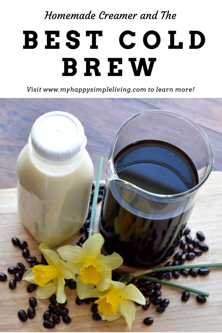 Cold Brew Coffee recipe and delicious homemade coffee creamer. Italian sweet cream is so easy to make and goes perfectly with this cold brew.