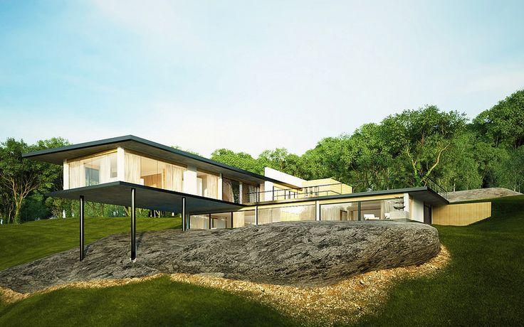 3D CHALLENGE-CAM1- Minimalist Modern Eco House