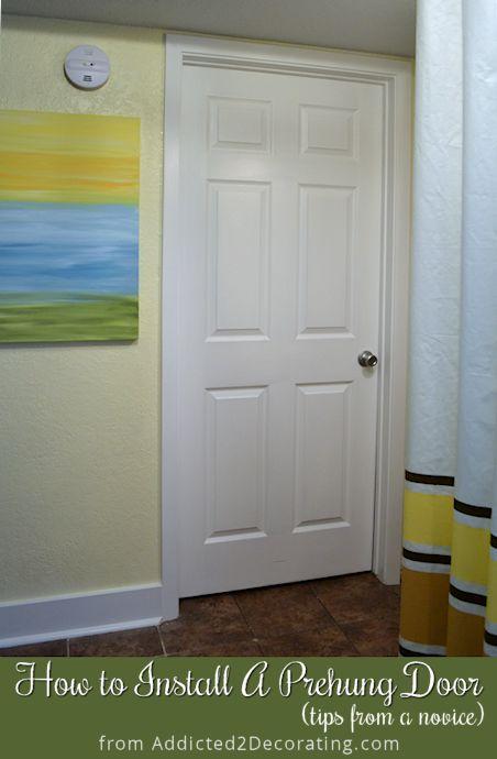 Best 25 prehung doors ideas on pinterest diy install - How to hang a exterior prehung door ...