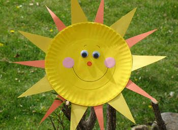 Spring Weather Paper Plate Kids Craft