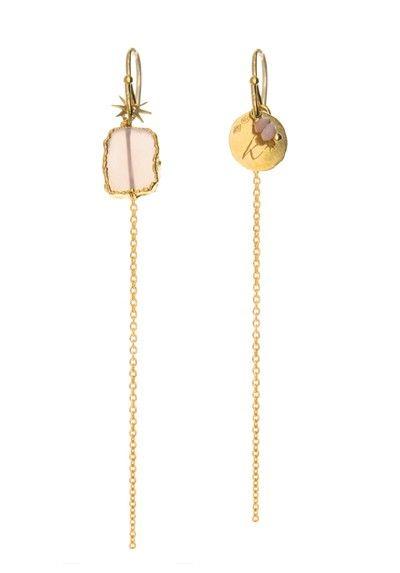 Boucles d'oreilles HOLI Calcédoine rose