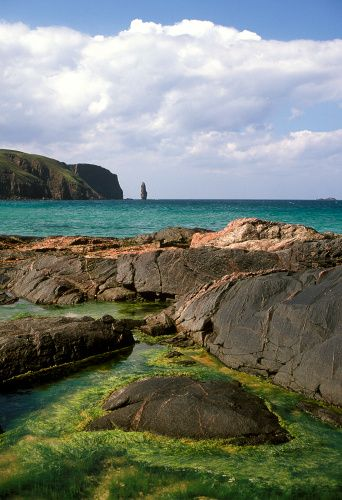 View across Sandwood Bay on the Scottish coast ༺❀༺