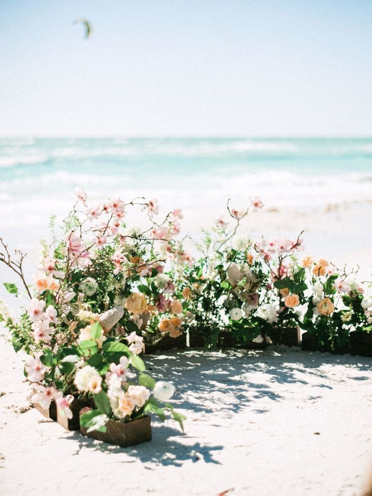 You Ll Want To Dance On The Beach At This Seaside Wedding Beach Wedding Seaside Wedding Beach Ceremony