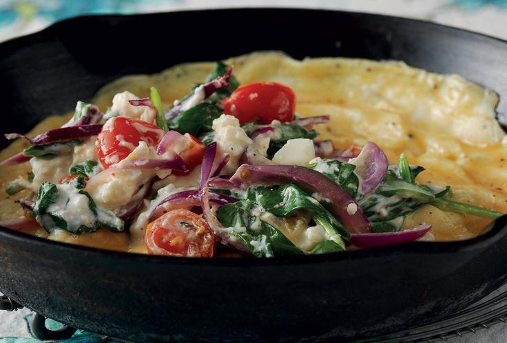 Omelett med grönsaker | Recept från Santa Maria