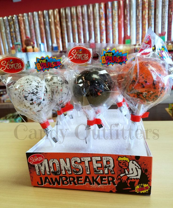 1  LARGE JAWBREAKER CANDY - THE BIG MONSTER BRUISER - Old Fashioned Hard Candies