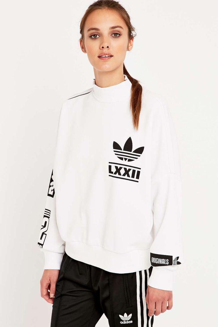 adidas Berlin White Logo Sweatshirt - Urban Outfitters