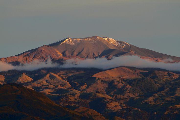 Puracé volcano seen from Popayán #colombia