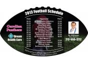 4x7 in One Team Carolina Panthers Football Schedule