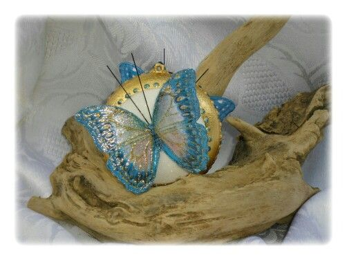 Med. Con farfalla grande blu