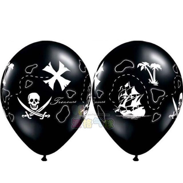 Новый 10 шт. 3.2 г 12 дюймов матовый пиратский корабль печатные шаров гелий хэллоуин махрово мальчик на день рождения ну вечеринку в классическом шары