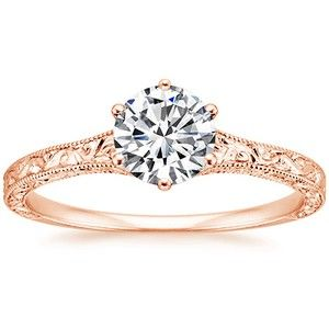rose gold filigree engagement ring. but the diamond will be MUCH larger. obviously. So simple. So elegant. LOVE