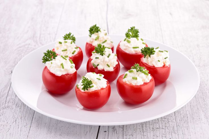 Recette healthy : tomates cerises-fromage allégé