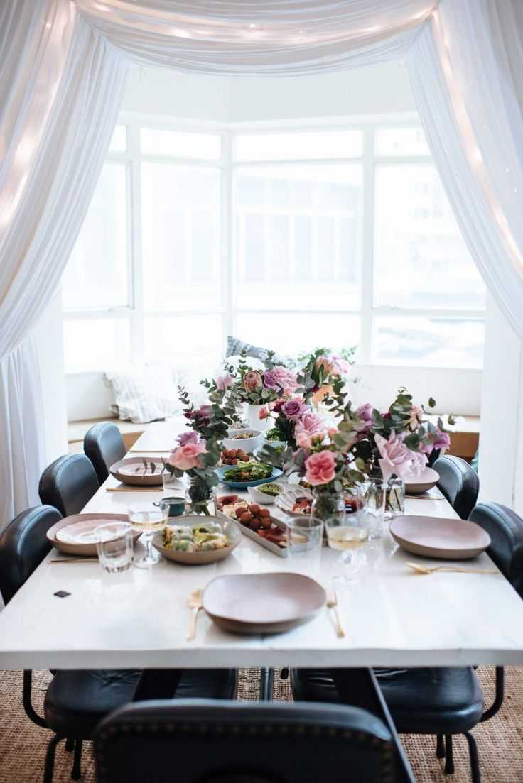 A Pair & A Spare   DIY Indoor Canopy Brunch
