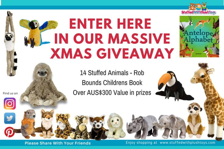 I just entered this HUGE XMAS GIVEAWAY, you should too. It's from the plush toy website  www.stuffedwithplushtoys.com - Every Animal Imaginable. Enter every single day until Dec 4th.
