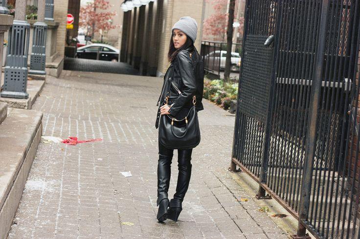 Black on black fashion