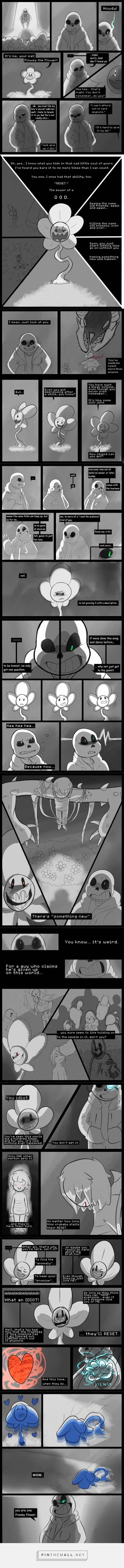 What If - Flowey and Sans - comic 1/2 (I can't believe I never posted the first half of this!)