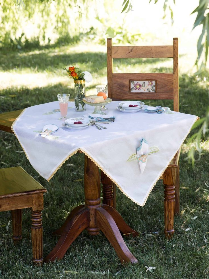 April cornell bridge party tablecloth napkin 5 pc 3636