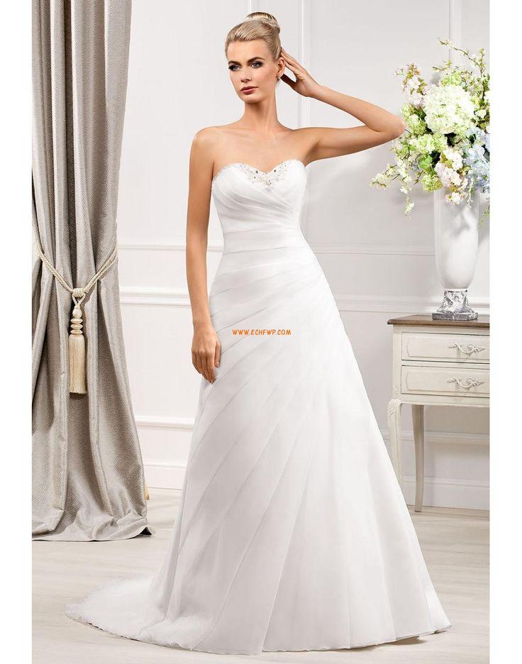 A-line Sans manches Perle Robes de mariée 2014