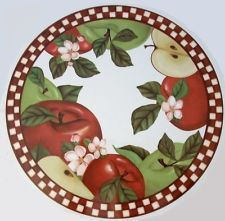 apple decorations for country kitchen | Newly listed APPLE FRUIT COUNTRY KITCHEN STOVE BURNER COVER HOME DECOR ...