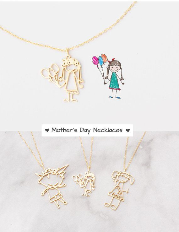commemorative gift custom drawing picture necklace Personalized Mom Gift photo necklace drawing jewelry photo ornaments inspirational