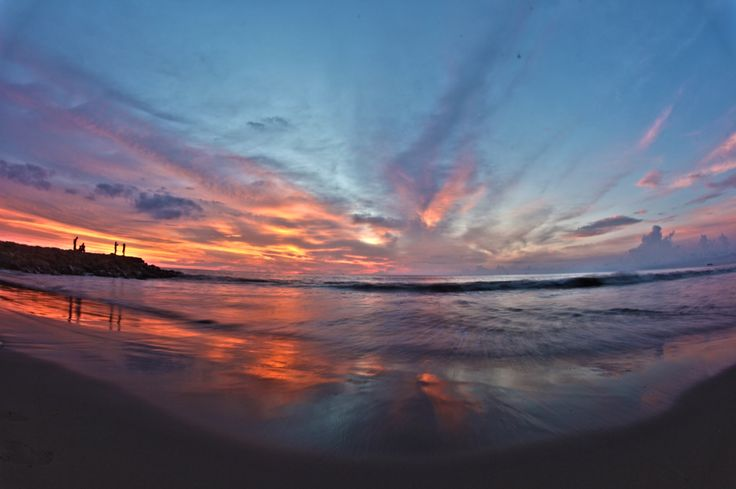 Sunset padang beach