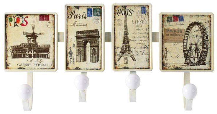 """Cuier vintage de perete """"Bistro de Paris"""""""
