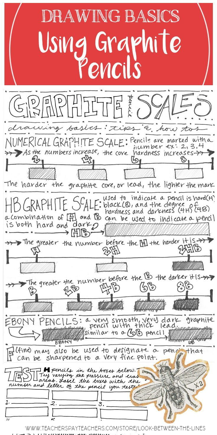 Visual Art Drawing Worksheet And Activity Learning About Graphite