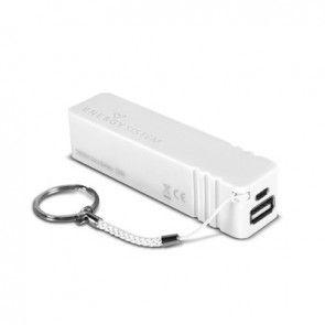 #Energi System Extra #Battery Wit Handige batterij met keyring om smartphones en tablets (incl. iPhone en iPad) mee op te laden. Deze batterij is zeer licht en compact, maar is wel van hoge kwaliteit en beschermt het op te laden toestel tegen stroompieken en overladen. http://www.festivalking.com/be/op-reis/rugzakken/dag-rugzakken/high-peak-victoria-24l.html