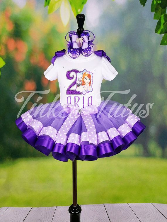 Sofia the First Dress, Sofia the First Tutu, Sofia the First Birthday Outfit, Princess Sofia Tutu, Princess Sofia Dress, Purple Tutu Set