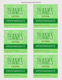 MamaChallenge.com   Dallas Fort Worth Texas Mom Blogger : Go Go squeeZ Applesauce Valentines - 'Thanks for Being Awesomesauce' {Free Printable}