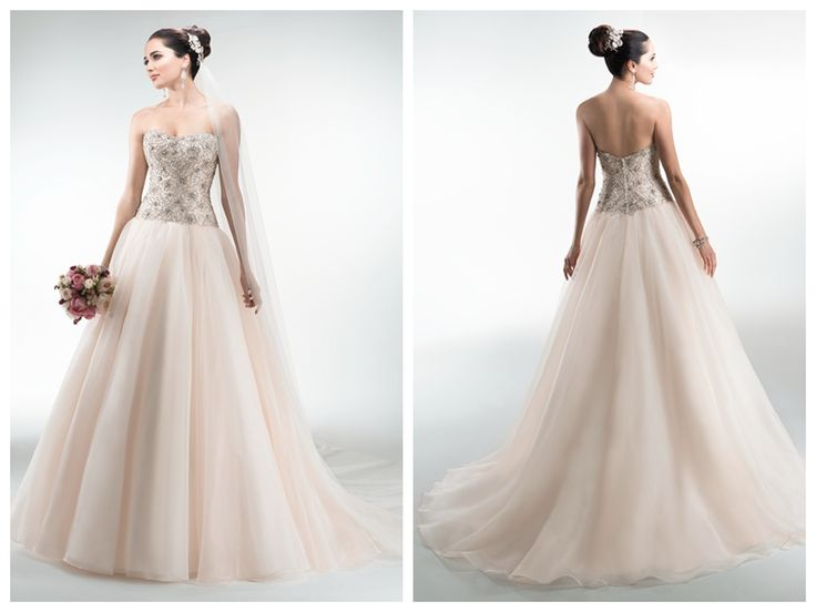 ORGANZA BALL GOWN SWEETHEART WEDDING DRESSES WITH BEADED BODICE
